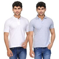 TSX Exquisite Cotton Blend Multi Color Polo T-Shirt Pack Of 2 (19)