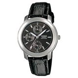 Casio Black Leather Analog Men Watch – A167