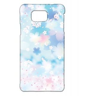 Pickpattern Back Cover For Samsung Galaxy Alpha FLYINGSPETALSSALP