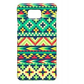Pickpattern Back Cover For Samsung Galaxy Alpha LEAFAZTECSALP
