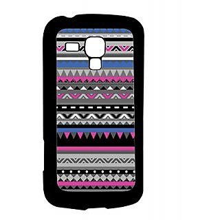 Pickpattern Back Cover For Samsung Galaxy S Duos S7562 PURPLE&BLACKSDS