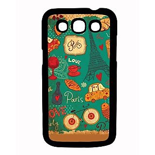 Pickpattern Back Cover For Samsung Galaxy Grand Quattro I8552 BLUEPARISQTR