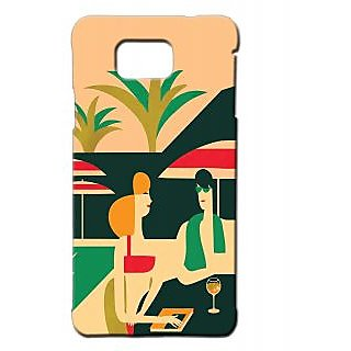 Pickpattern Back Cover For Samsung Galaxy Alpha HOLIDAYSALP