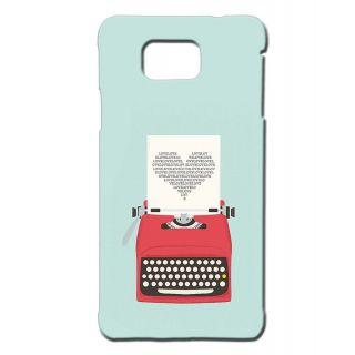 Pickpattern Back Cover For Samsung Galaxy Alpha HEARTTYPEWRITERSALP