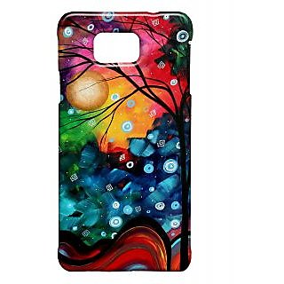 Pickpattern Back Cover For Samsung Galaxy Alpha VIBRANTGLORYSALP