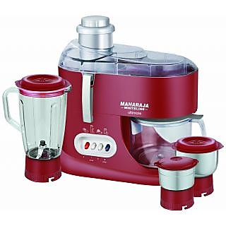 Minimum 40% Off On Bestselling Appliances By Shopclues   Maharaja Whiteline Ultimate Red Treasure JX-101 550-Watt Juicer Mixer Grinder (Red/Silver) @ Rs.2,689