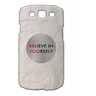 Pickpattern Back Cover For Samsung Galaxy S3 I9300 Believeyourselfs3 36419