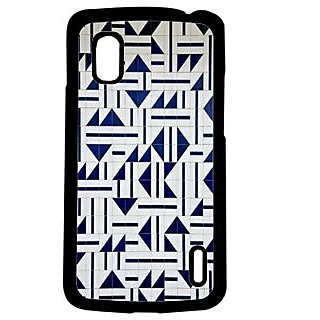 Pickpattern Back Cover For Lg Google Nexus 4 GEOMETRICALDESIGNN4-16991