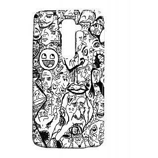 Pickpattern Back Cover For Lg G2 RIBBONLGG2-15159