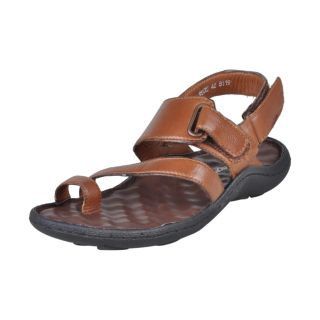 Franco Leone Stylish Design Brown Men's Sandals