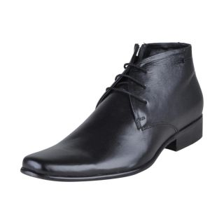Franco Leone Stylish Design Black Men's Formal Shoes