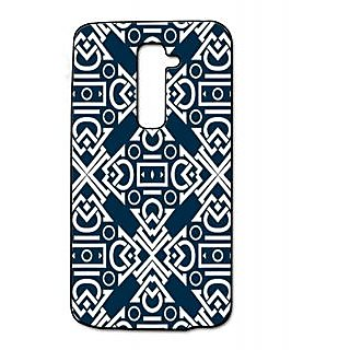 Pickpattern Back Cover For Lg G2 DARKBLUELGG2-15872