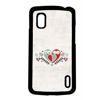 Pickpattern Back Cover For Lg Google Nexus 4 BIRDHEARTN4-16750