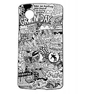 Pickpattern Back Cover For Lg Google Nexus 5 GREENDAYDOODLEN5-14423