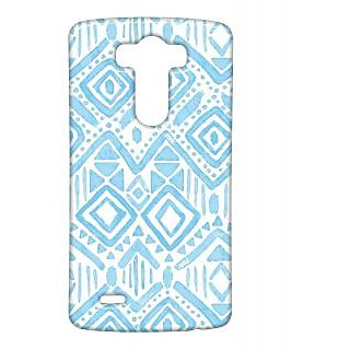Pickpattern Back Cover For Lg G3 BLUECHALKLGG3-13474