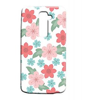 Pickpattern Back Cover For Lg G2 FABRICFLOWERSLGG2-15909