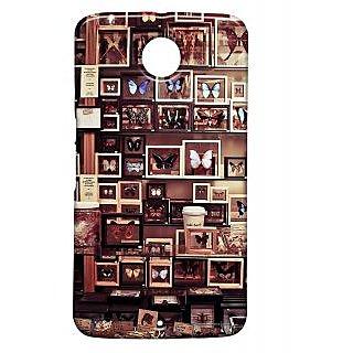 Pickpattern Back Cover For Motorola Google Nexus 6 BROWNBUTTERFLYN6-17491