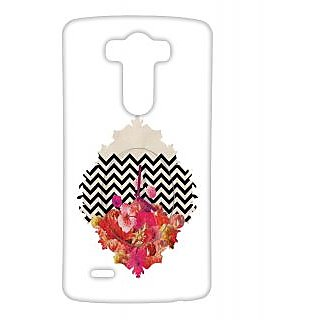 Pickpattern Back Cover For Lg G3 FLOWERCLOCKLGG3-12656