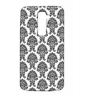 Pickpattern Back Cover For Lg G2 SIMPLEBLACKLGG2-15493