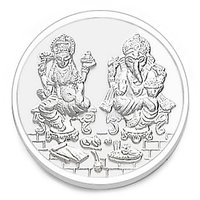 Laxmi Ganesh 5 gms Silver Coin 999 Purity - ACPL Jewels