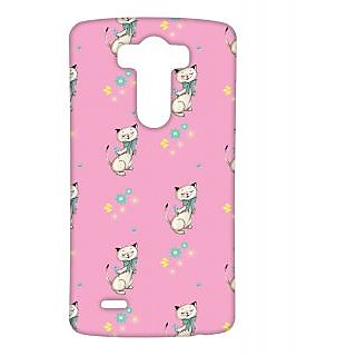 Pickpattern Back Cover For Lg G3 DANCINGKITTYLGG3-12613
