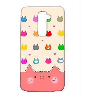 Pickpattern Back Cover For Lg G2 MULTICOLORKATLGG2-14992