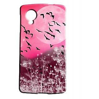 Pickpattern Back Cover For Lg Google Nexus 5 PINKMOONN5-14706