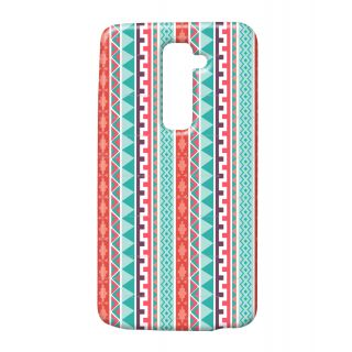 Pickpattern Back Cover For Lg G2 LIGHTBLUELGG2-16035