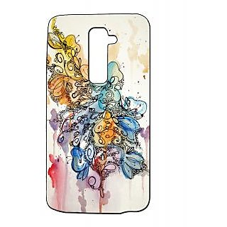 Pickpattern Back Cover For Lg G2 FLORALPAINTDESIGNLGG2-15922