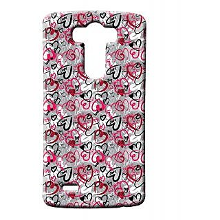 Pickpattern Back Cover For Lg G3 HEARTLESSLGG3-12657