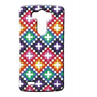 Pickpattern Back Cover For Lg G3 COLOURFULSQUARELGG3-12612