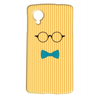 Pickpattern Back Cover For Lg Google Nexus 5 YELLOWBOWSPECSN5-14947