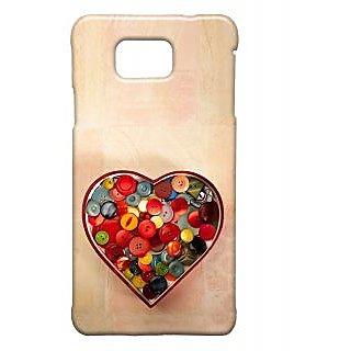 Pickpattern Back Cover For Samsung Galaxy Alpha HEARTBEATSSALP