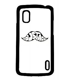 Pickpattern Back Cover For Lg Google Nexus 4 MUSTACHETYPON4-17225