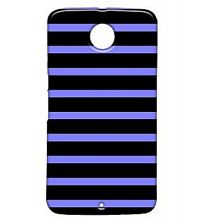 Pickpattern Back Cover For Motorola Google Nexus 6 BLACKSTRIPSN6-17850