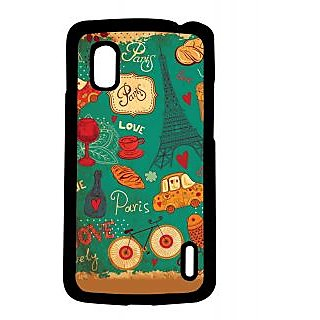 Pickpattern Back Cover For Lg Google Nexus 4 BLUEPARISN4-16796
