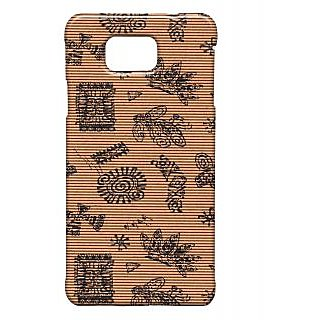 Pickpattern Back Cover For Samsung Galaxy Alpha BROWNMATTRESSSALP