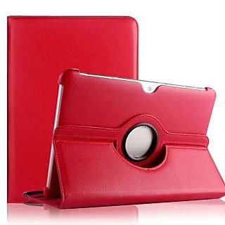 Red Samsung Galaxy Tab 2 10.1inch 360 Rotate Rotating Case Cover P5100 P5110