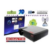 EGATE P512+W 3500 LUMENS HD LCD LED PROJECTOR, USB + HDMI + VGA + AV + TV + LAN (With 1 Year Manufacturer(Egate) Warranty + 2X3D Glasses)