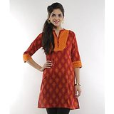 Indy Trendy Maroon Mix and Match Kurti