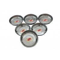 Hazel Designer Steel Dishes / Plates - 6 Pcs Set - Large - B Halwa S6.5