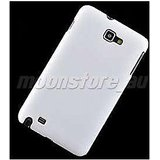 Ultra Thin Rubberized Matte Hard Back Case Cover For Samsung Galaxy Note I9220 (White)