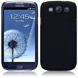 Black Ultra Thin Rubberized Matte Hard Case Cover For Samsung Galaxy S3