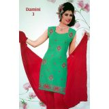 Damini Embroidered Unstitched Designer Suit 076bgr