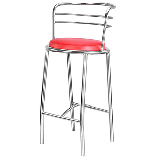 Red Bar Chair In Steel