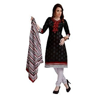 100% Cotton Dress Material With Good looking Design in front side and back side