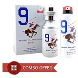 Beverly Hills Polo Club Combo Of Perfume & Deodorant No 9 Men 50ml & 175ml