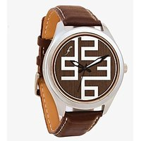 The Wood Textured Men Analog Watch By Foster's AFW0001789