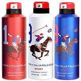 Beverly Hills Polo Club Deodorant Combo For Men - Sport (One + Nine + Eight)
