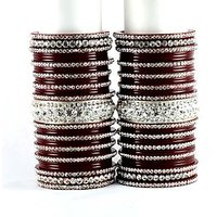 personalized acrylic bangles set colour maroon size-2.4,2.6,2.8,2.10